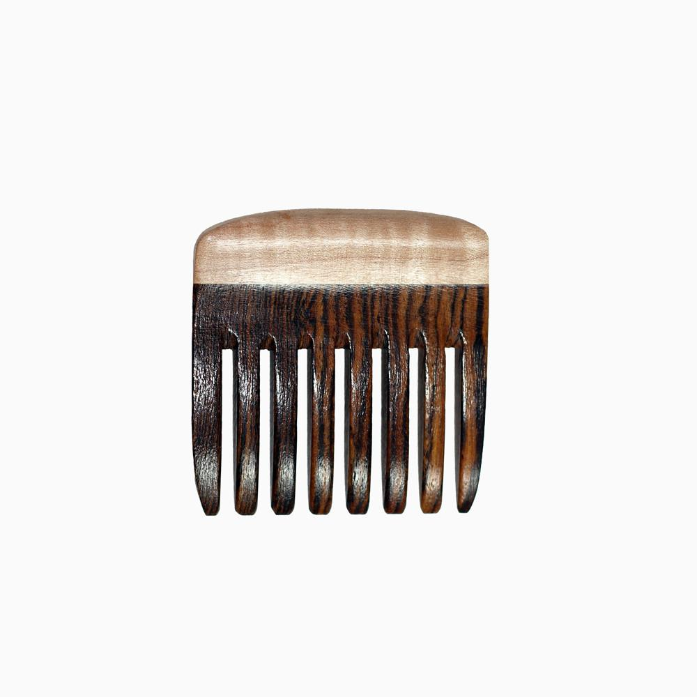Beard Comb - Beard Comb With Bocote & Curly Maple Wide Toothed