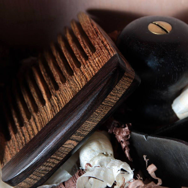Combs - Beard Comb With Bocote & Rosewood