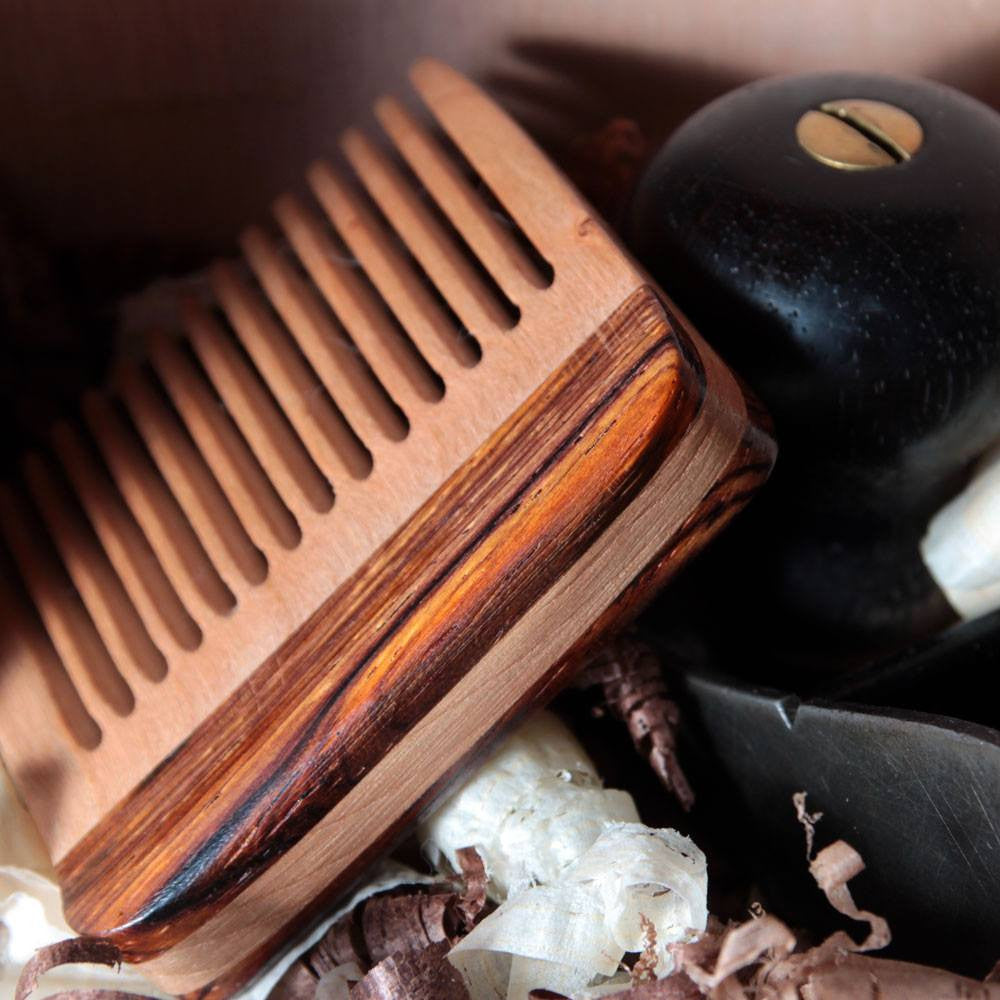 Combs - Beard Comb With Cherry & Cocobolo