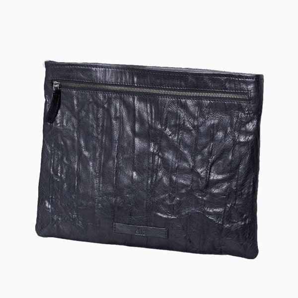 Document Case - Solna Document & IPad Case - Black Leather