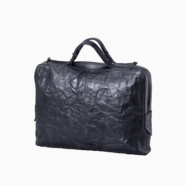 Everyday Bag - Solna Laptop Bag & Briefcase - Black Leather