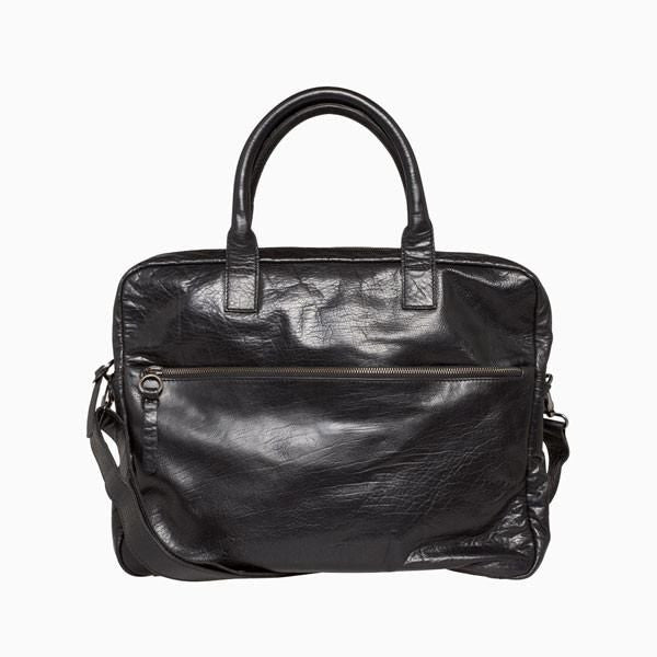 Everyday Bags - Farun Laptop Bag - Black Leather