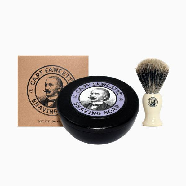 Gift Set - Shaving Soap And Best Badger Brush