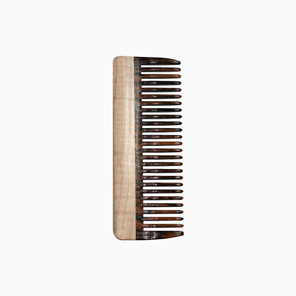 Hair Comb - Hair Comb With Bocote & Curly Maple