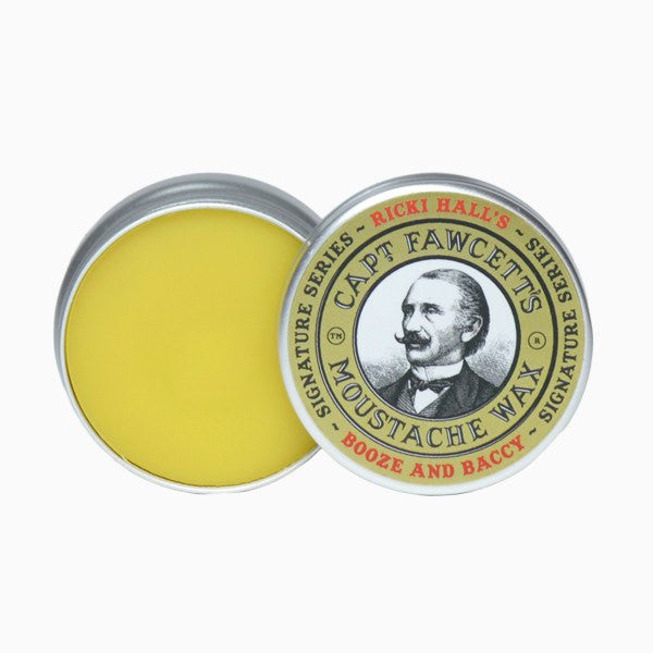 Moustache Wax - Ricki Hall's Booze & Baccy Moustache Wax