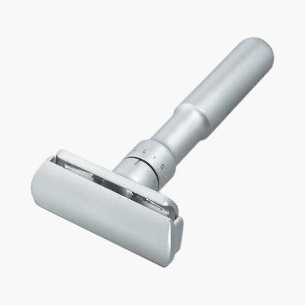 Satin Adjustable Safety Razor with Leather Case