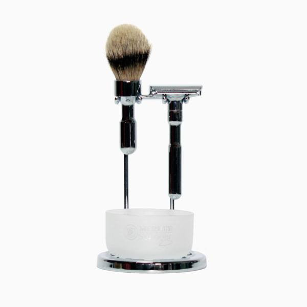 Shaving - Merkur Futur 4 Piece Safety Razor Polished Chrome Wet Shaving Set