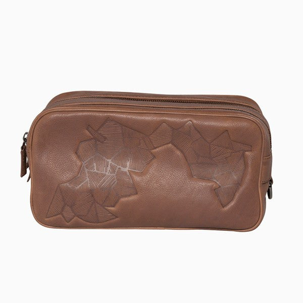 Toiletry Bag - Grafisk Men's Leather Toiletry Bag
