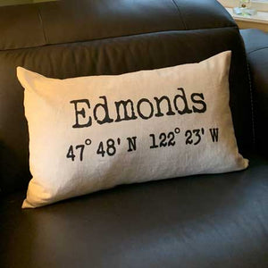 CUSTOM EDMONDS DOWN PILLOW