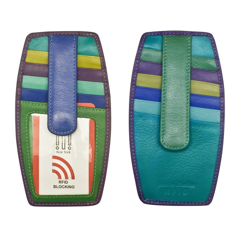 Card Holder with Zip Pocket Cool Tropics