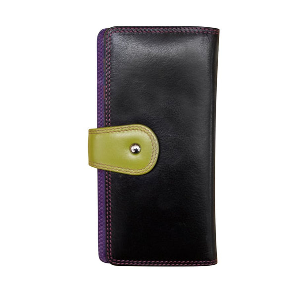 Wallet with Tab Closure Black/Bright