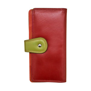 Wallet with Tab Closure Citrus