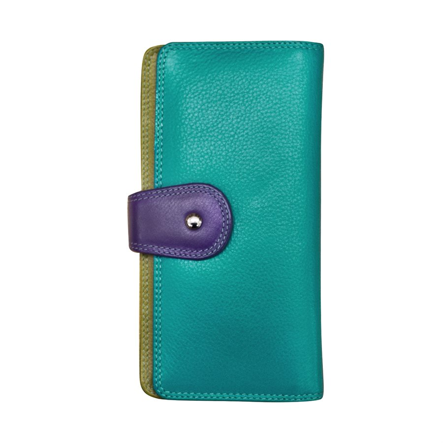 Wallet with Tab Closure Cool Tropics