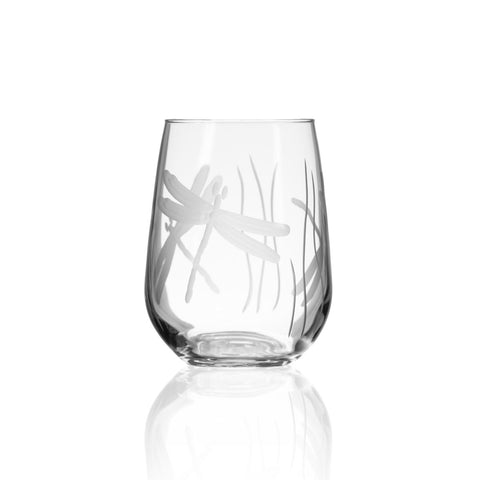Dragonfly Stemless 17oz Wine Glass