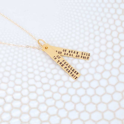 Gold Vermeil Fearless Necklace