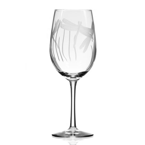 Dragonfly Stemmed 18oz Wine Glass