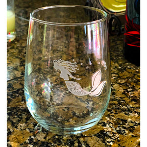 Mermaid 17oz Stemless Wine Glass