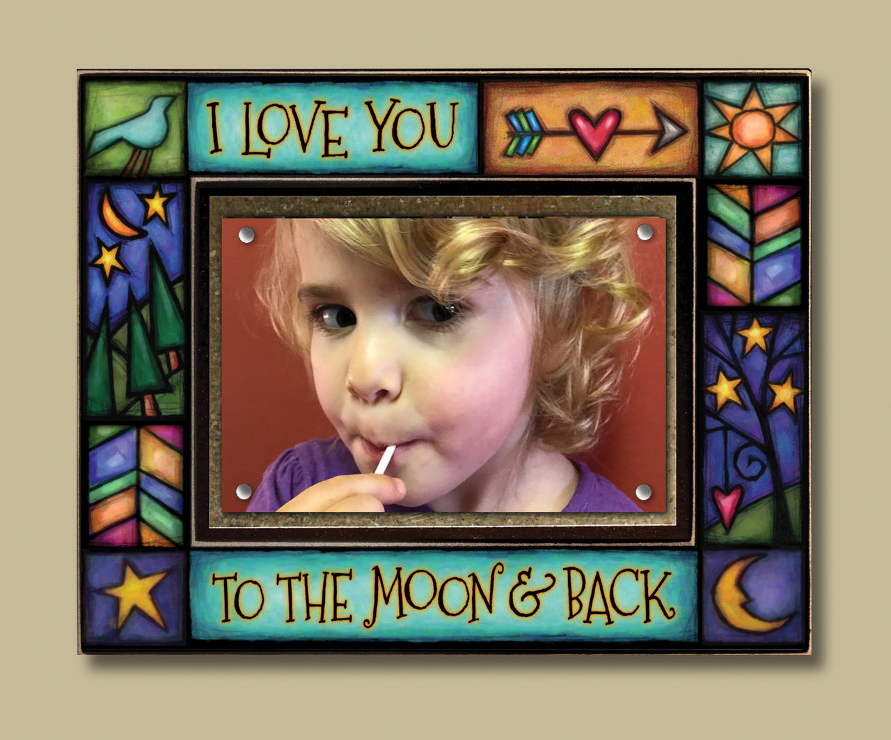 Love you to the Moon and Back Frame