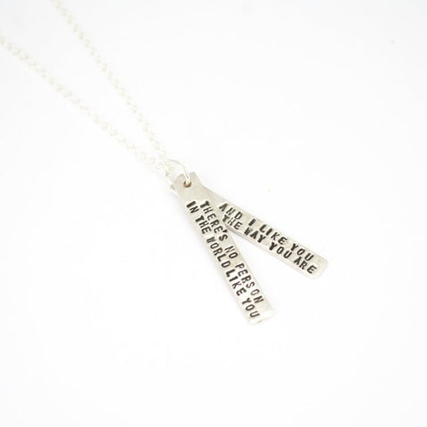 Mr Rogers Quote Necklace