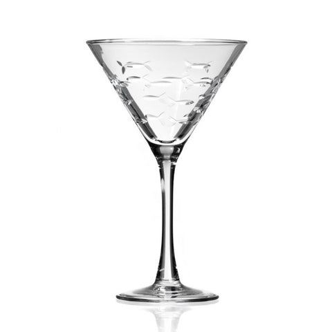 School of Fish Martini Glass