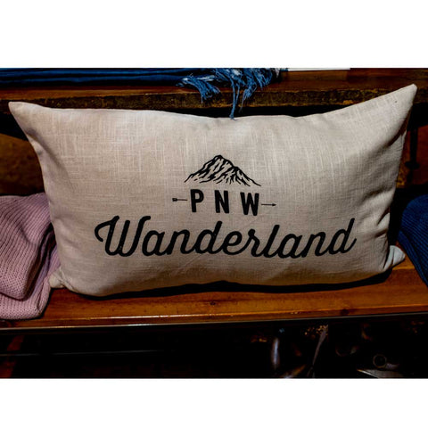 PNW Wanderland Custom Pillow