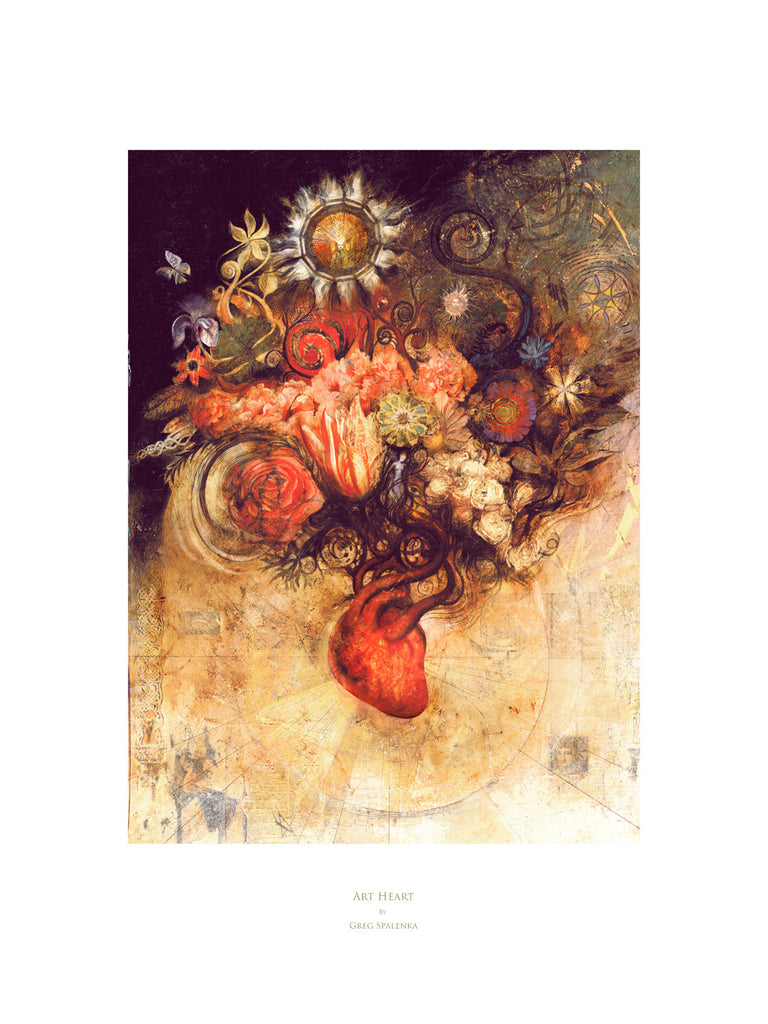 Art Heart, Museum Quality Print, Essence: Autumn