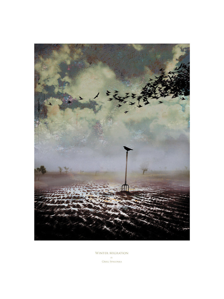 Winter Migration, Museum Quality Print, Essence: Winter