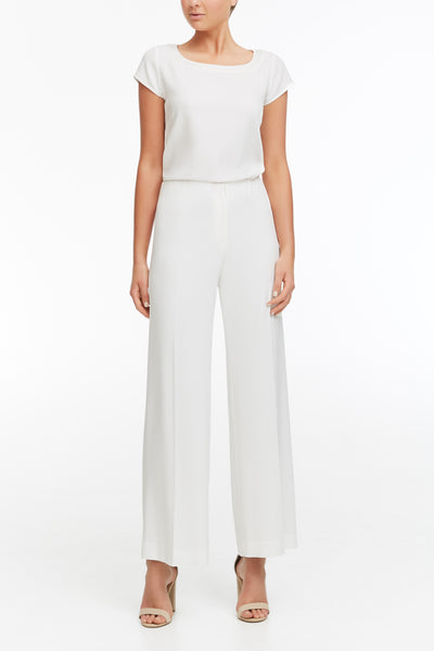 Elastic Evening Pant - Ivory lined #900