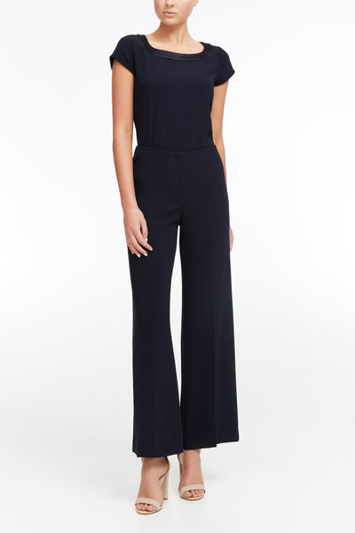 Elastic Evening Pant - Navy
