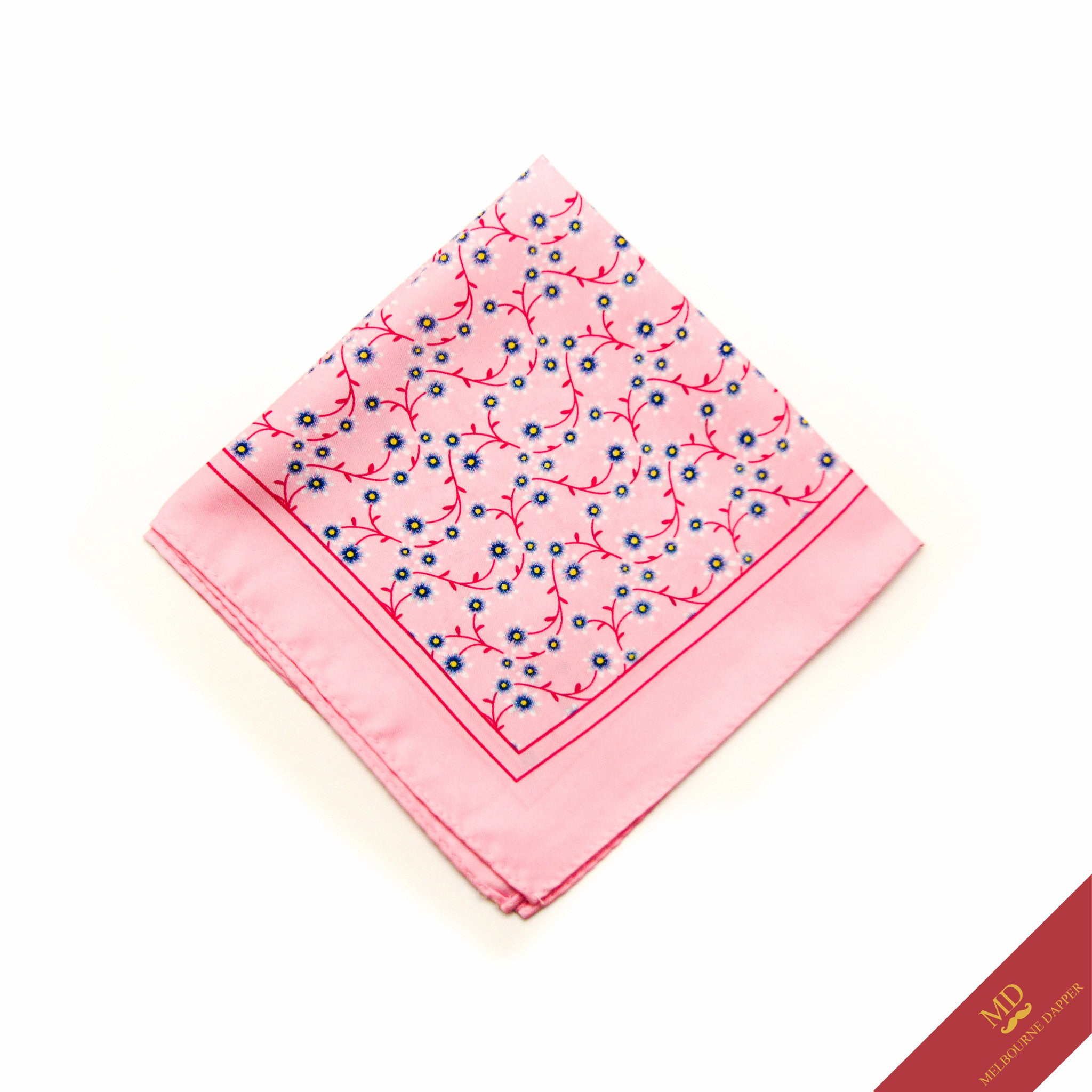 Floral Pocket Square Pink