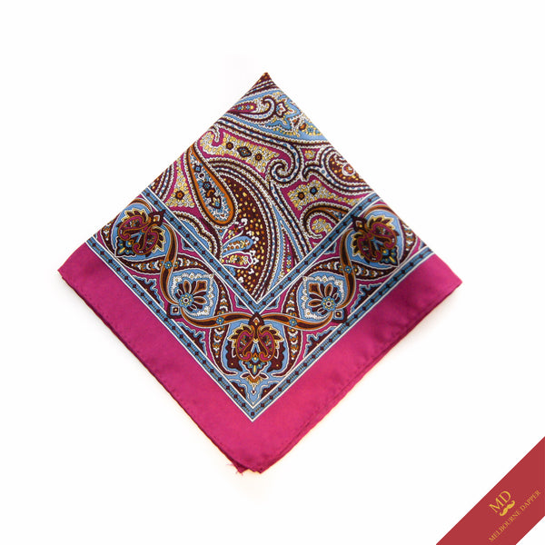 Paisley Pocket Square Pink