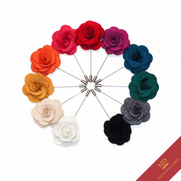 mini rose lapel pins assorted colours