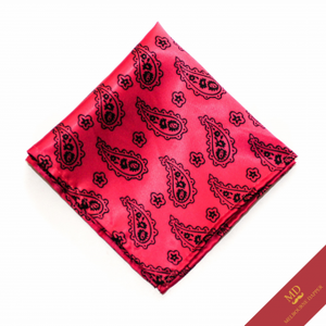 paisley pink pocket square