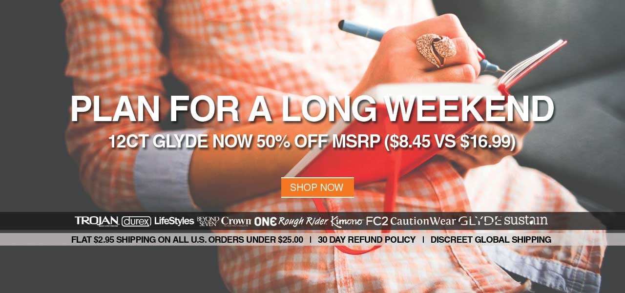 Plan For A Long Weekend - 12ct Glyde Condoms Now 50% Off MSRP ($8.45 vs $16.99)