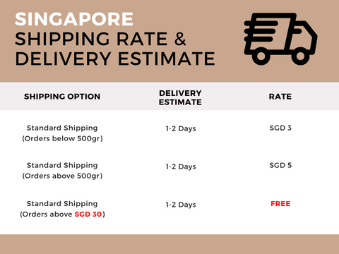 Purnama Singapore Shipping Rate & Delivery Estimate