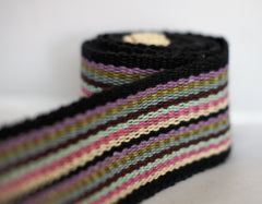 Lilac Black Stripe - Yoga Belt Mat Carrier
