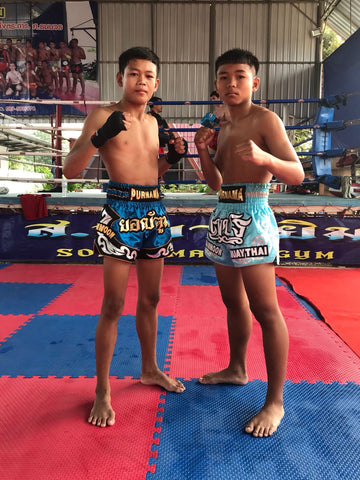 Muay Thai Shorts Customized for Purnama - Fight For Education