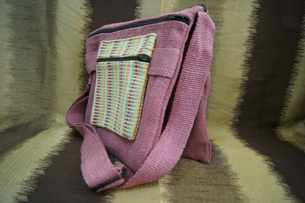 Double Bag - Pink Brown - Purnama Outreach