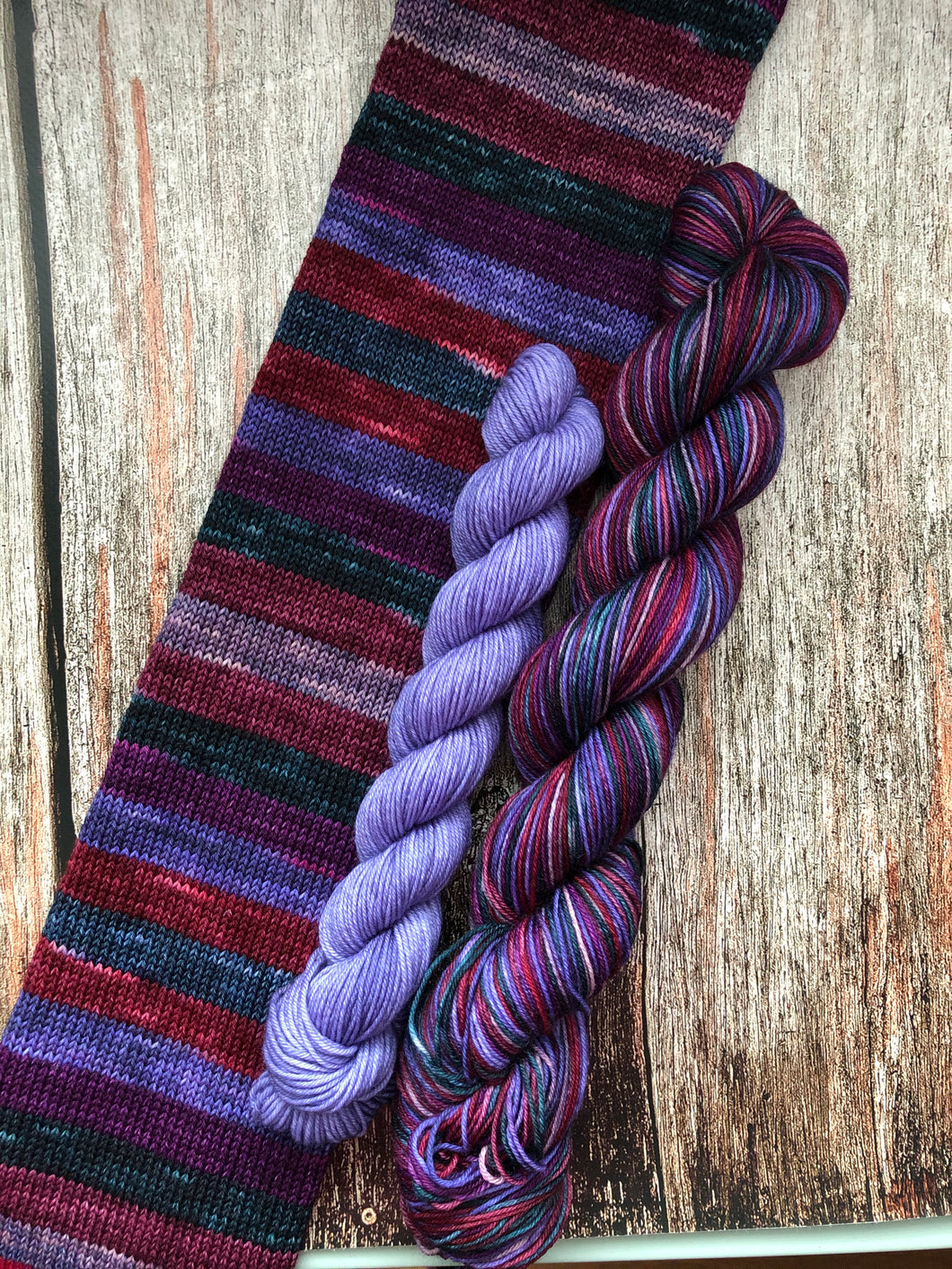Sojourn Self-Striping Sock - Mad Madam Mim