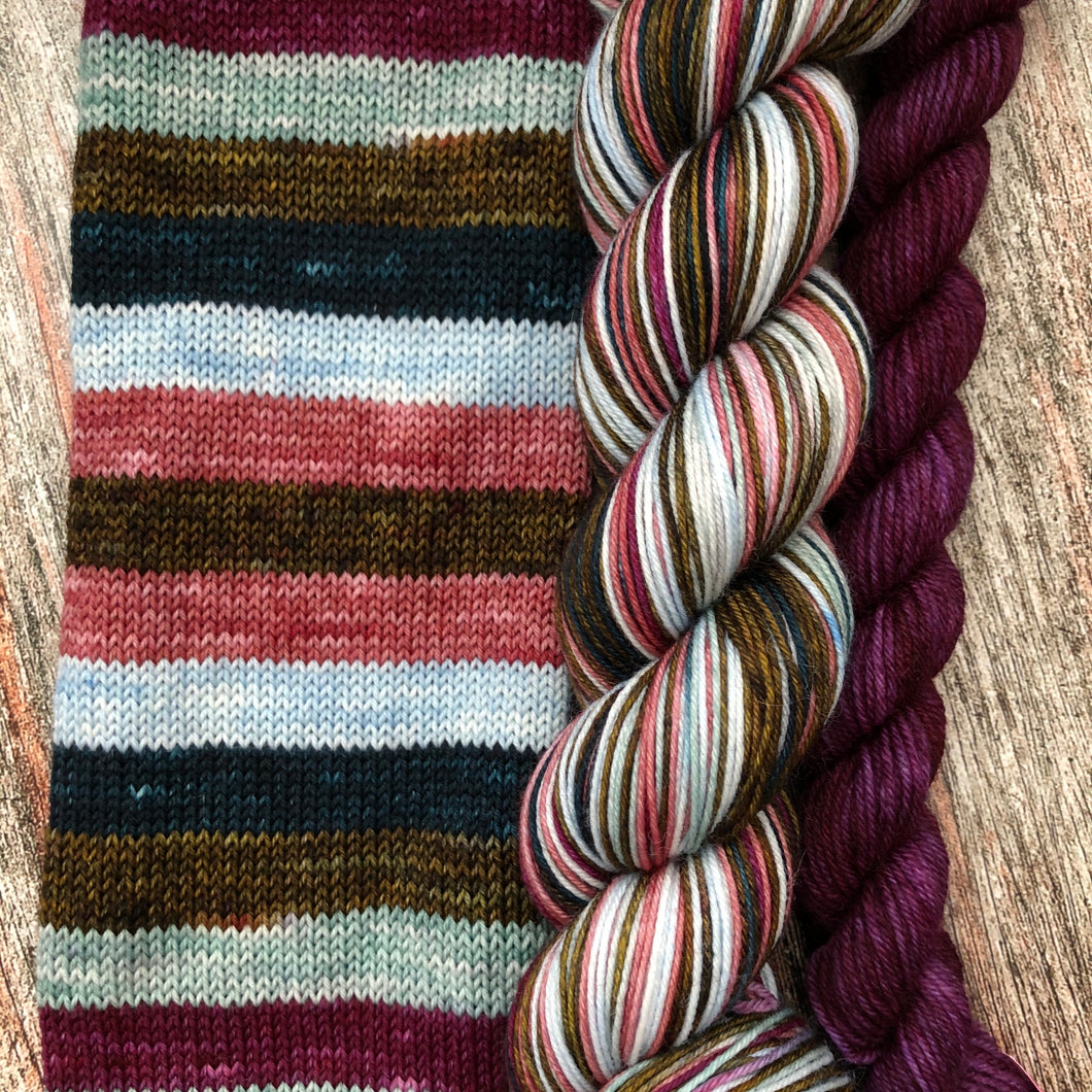 Sojourn Self-Striping Sock - Tomorrow is a New Day With No Mistakes in It
