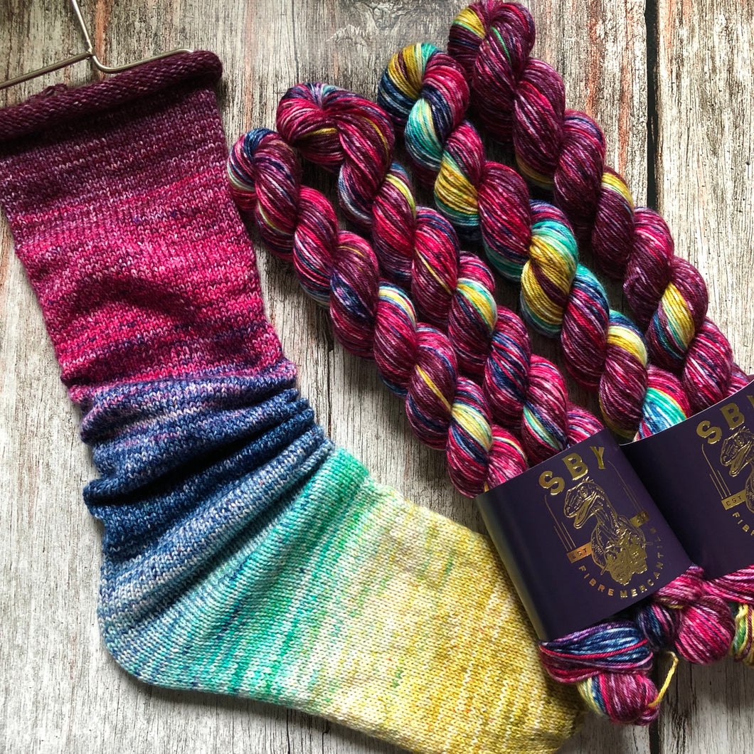 Deconstructed Fade Sock - Strung Together With Whispers