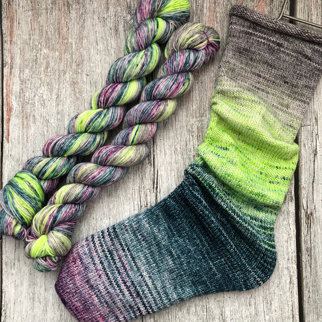 Deconstructed Fade Sock - Mad Madam Mim