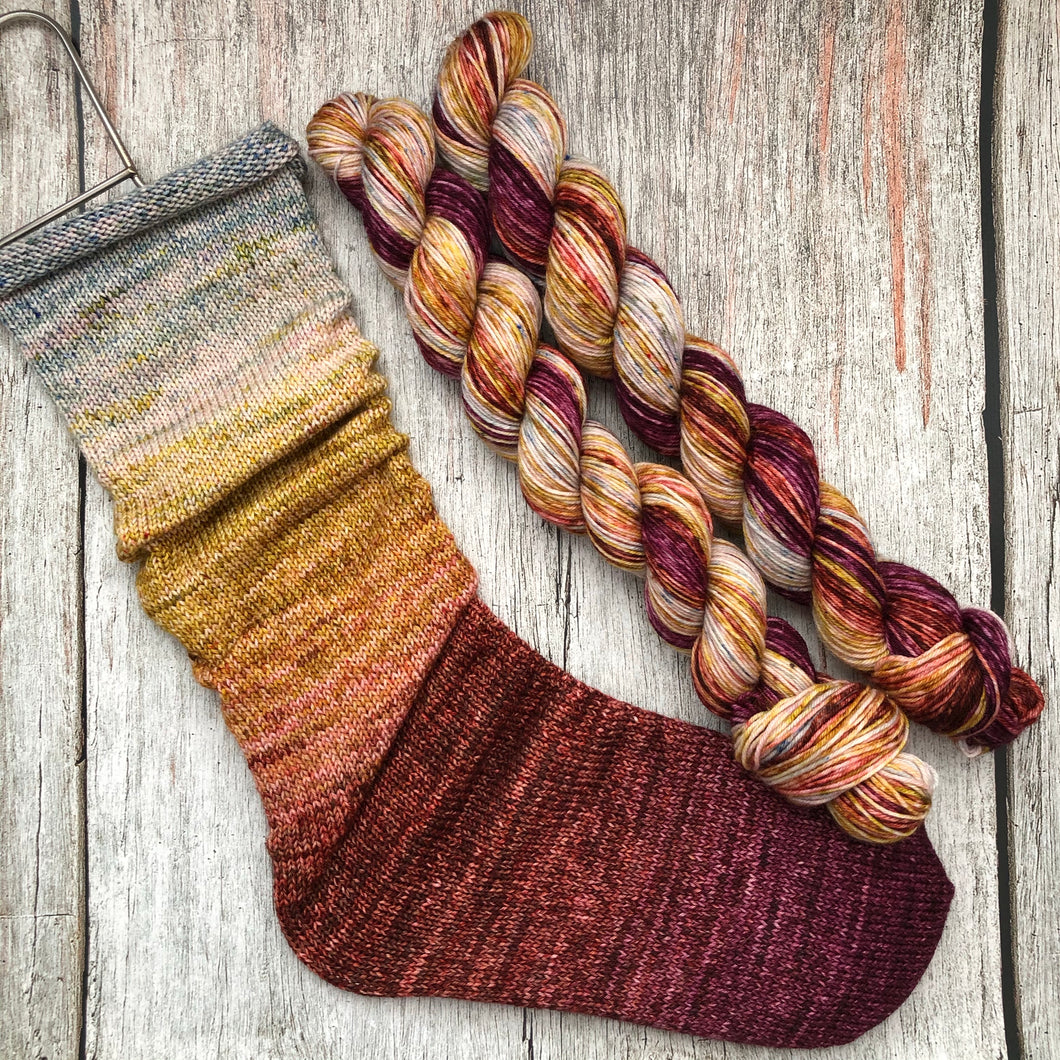 Deconstructed Fade Sock - St.Elmo's Fire