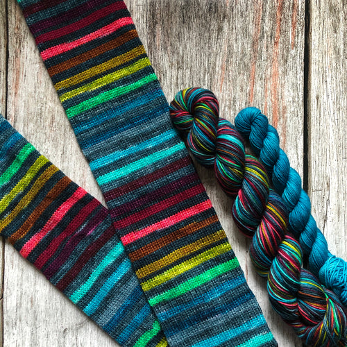 Sojourn Self-Striping Sock - Untethered