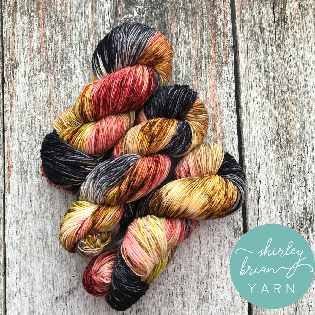 shirley brian yarn Sailor Sock - Wine-a-saurus-Rex
