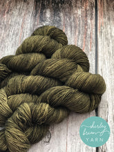 shirley brian yarn fingering sock yarn Merino Single Sock - Olive You Forever