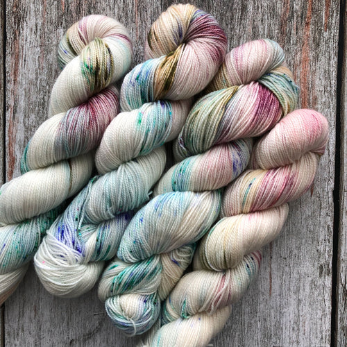 shirley brian yarn scuttle sock - in omnia paratus