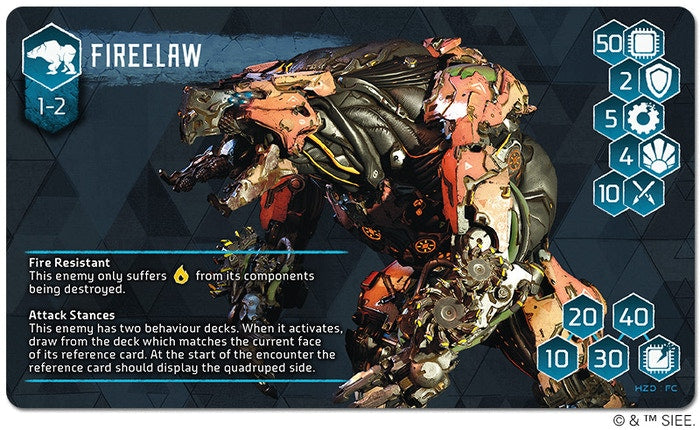 Fireclaw Stat Card Front