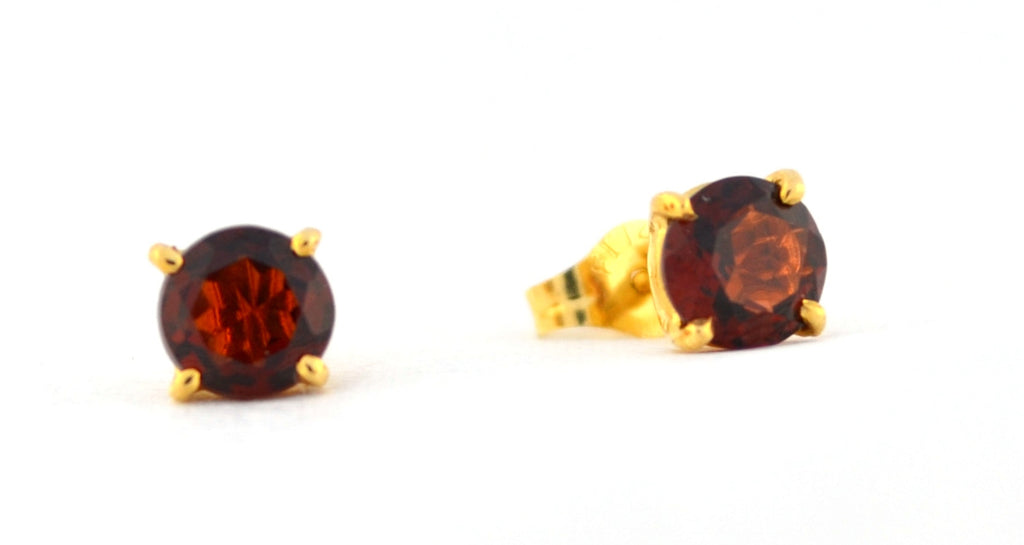 E-071 Garnet Stud Earrings