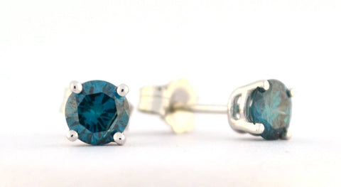 E-096 Blue Biamond Earrings